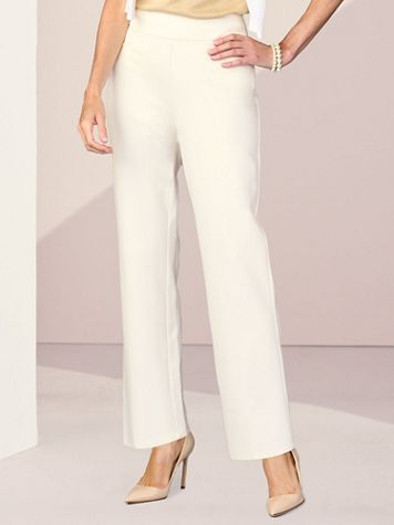 Slimtacular® Ponte Straight Leg Pull-On Pants - Image 1 of 9