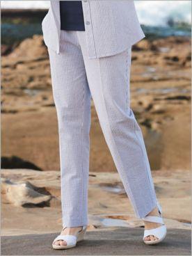 Stretch Seersucker Stripe Pants
