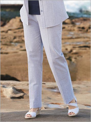 Stretch Seersucker Stripe Pants - Image 0 of 1