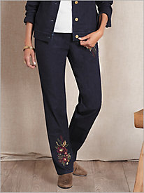 Slimtacular® Decorated Denim Pants