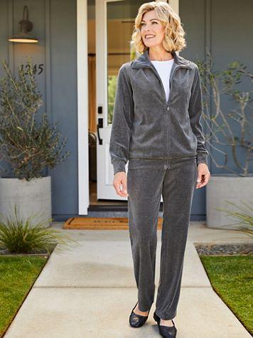 Premium Velour Jacket & Pant Two-Piece Set by D&D Lifestyle™ - Image 2 of 2