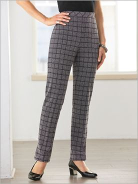 Pattern Play Plaid Knit Pants
