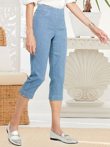 Slimtacular® Denim Capris - Image 1 of 3
