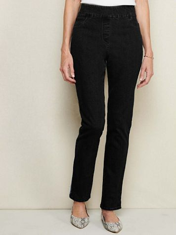 Slimtacular®  Slim-Leg Pull-On Denim Jean - Image 1 of 10