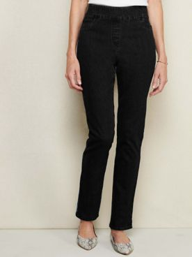 Slimtacular®  Slim-Leg Pull-On Denim Jean