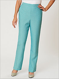 Textured Pull-On Pants by Alfred Dunner