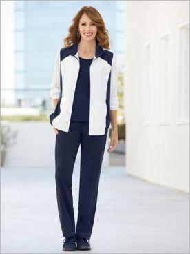 Sport Block Microfiber Jacket & Pants Set by D&D Lifestyle™