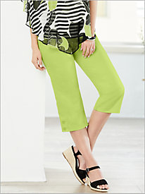 Cayman Islands Button Cuff Capris by Alfred Dunner