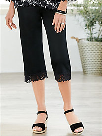 Cayman Islands Border Lace Capris by Alfred Dunner