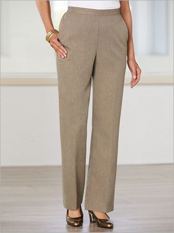 Boardroom Textured Pull-On Pants by Alfred Dunner - Image 2 of 2
