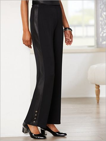 A Perfect Match Trimmed Pants by Picadilly - Image 2 of 2