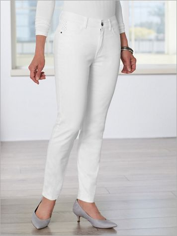Ankle Length Denim Pants by Picadilly - Image 3 of 3