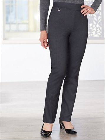 Tapered Leg Pull-On Pants by Picadilly - Image 1 of 3