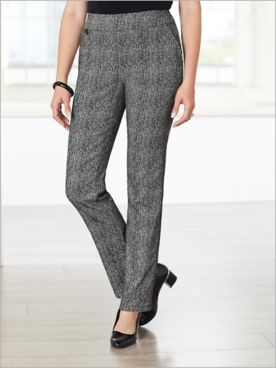 Chevron Jacquard Pants by Picadilly