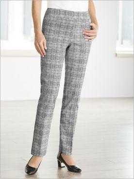 Slimtacular® Sketch Print Slim Leg Pants