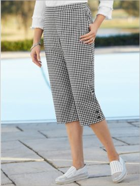 Checkmate Check Capris by Alfred Dunner