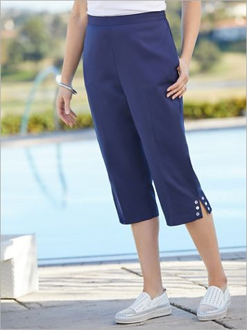 Ship Shape Grommet Capris by Alfred Dunner - Image 2 of 2