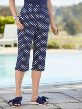 Ship Shape Dot Capris by Alfred Dunner