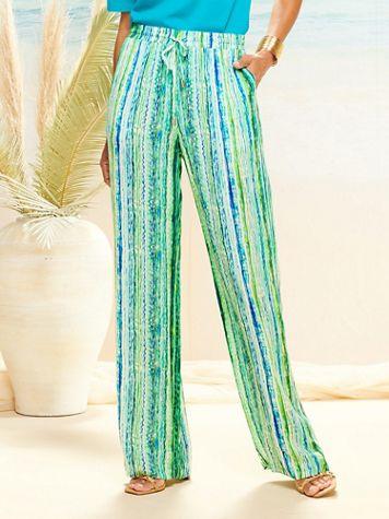 Crinkle Stripe Pants
