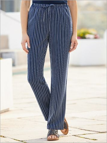 Pucker Stripe Pants - Image 1 of 4
