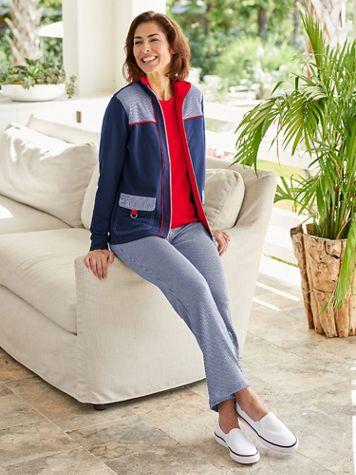Sailor Stripe Jacket & Pant Set by D&D Lifestyle™ - Image 1 of 3