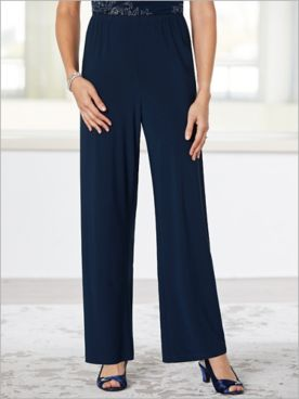Soft Stretch Knit Pants by Alex Evenings
