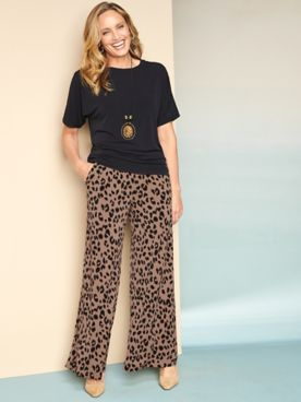 Premium Knit Dolman Top & Animal Instinct Knit Pants