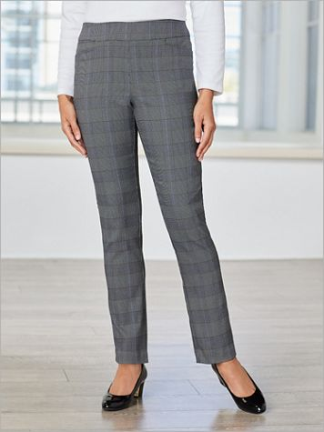 Plaid About You Straight Leg Pull-On Pants - Image 3 of 3