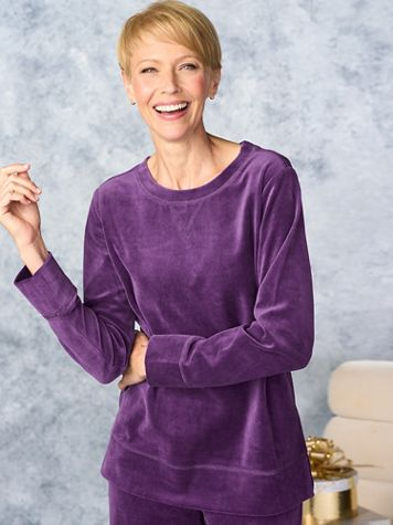 Everyday Velour Tunic by D&D Lifestyle™ - Image 1 of 3
