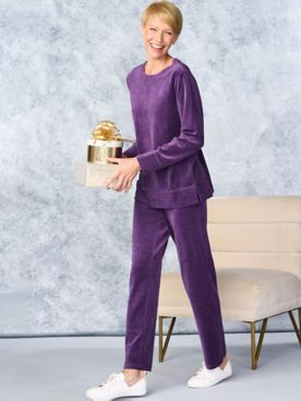 Everyday Velour Tunic & Premium Pants by D&D Lifestyle™