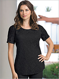 Stretch Knit Lace Top