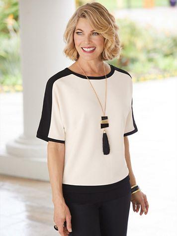 Brownstone Studio® Knit Colorblock Dolman Sleeve Top  - Image 3 of 3