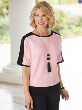 Brownstone Studio® Knit Colorblock Dolman Sleeve Top