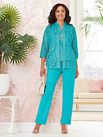Lovely Lace Shirt & Look-Of-Linen Separates