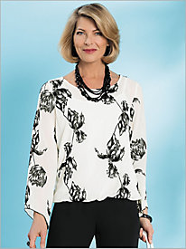 Embroidered Floral Blouson