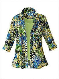 Modern Mosaic Floral Shirt