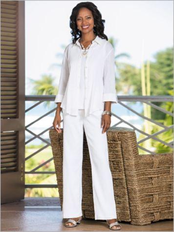 Crochet Back Gauze Shirt & Mojave® Separates