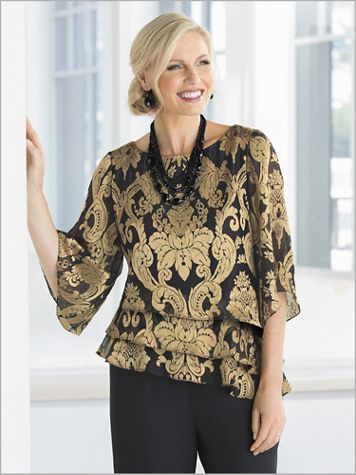 Royalty Tiered Top by Alex Evenings - Image 2 of 2