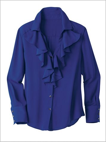 Ruffle Front Blouse - Image 2 of 2