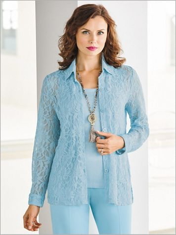 Couture Lace Big Shirt - Image 1 of 3