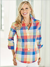 Catalina Plaid Shirt by Foxcroft