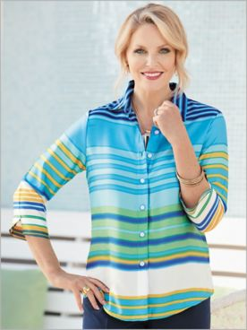 Turqs And Caicos Stripe Big Shirt