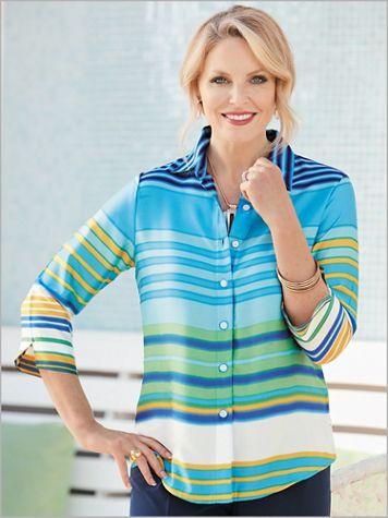 Turqs And Caicos Stripe Big Shirt - Image 2 of 2