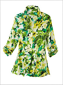 Botanical Floral Big Shirt