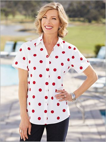 Dot Campshirt by Foxcroft - Image 1 of 1