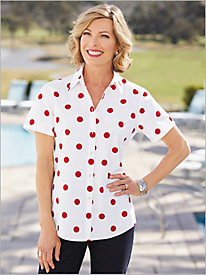 Dot Campshirt by Foxcroft