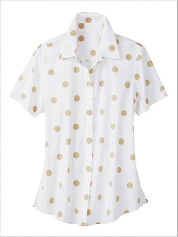 Dot Campshirt by Foxcroft - Image 2 of 2