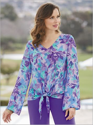 Paradise Bloom Tie Front Top - Image 2 of 2