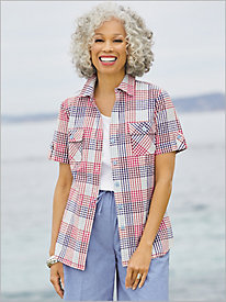 Picnic Plaid Camp Shirt