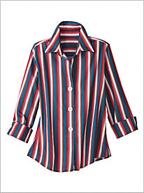Sonoma Stripe Shirt by Foxcroft